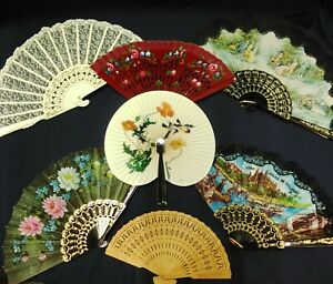 Collection Of Vintage Hand Fans