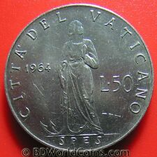 1964 VATICAN CITY 50 LIRE SPES PAUL VI COLLECTABLE COIN STAINLESS STEEL 24.8mm