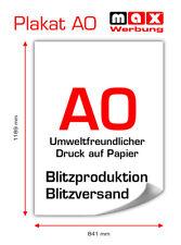 Poster / Plakat-Druck DIN A0 von Ihrem Motiv! 24h Druck