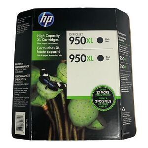 HP Genuine 950XL TWIN PACK Black Ink 1 Pack of 2 Cartridges - EXP: 2016