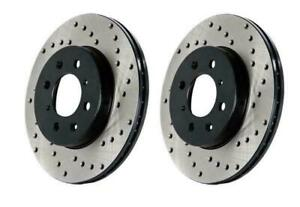 StopTech Drilled Rear Brake Rotors for 17-19 Audi RS3 Iron Disc