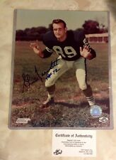 Gino Marchetti Colts All Time Great 8x10 Photo Autograph 100%authentic