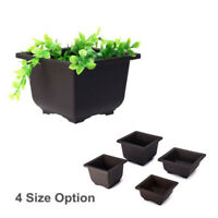 Flower Pot Balcony Square Basin Bonsai Plant Bowl Planter Nursery 1X US