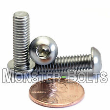 6mm x 1.00 x 20mm - Qty 10 - A2 Stainless Steel BUTTON HEAD Screws  M6-1.0 x 20