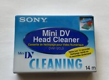 New listing Sony Usa Dvm 12 Cld Mini Dv video head cleaner Cassette New Sealed Nos Japan