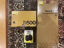 Nikon D500 20.9 MP Digital SLR Camera and Nikon AF-S Nikkor 200-500mm New in box