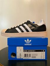 ADIDAS SUPERSTAR 1 BLACK/WHITE NEW SZ 9.5