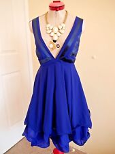 COOPER ST Royal Blue Navy DRESS Size 12 BNWT NEW Cocktail Party Evening Dinner