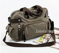 Men's New Fashion Canvas Shoulder Messenger Urban Casual College Bag khaki