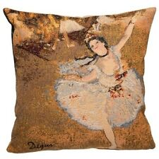 """DEGAS BALLET DANCER 45CM 18"""" LINED BELGIAN TAPESTRY CUSHION COVER WITH ZIP"""