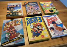 6 Genuine NES Games/Boxes/Manuals Mario 2 Mario 3 Cabal Double Dragon 2 Nintendo