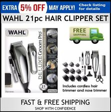 WAHL Hair Clippers Haircut Set Cordless Beard Trimmer Shaver Professional 21Pcs