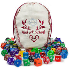 Wiz Dice Bag of Holding: 140 Polyhedral Dice in 20 Complete Sets RPG DnD New D20
