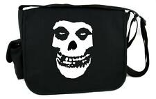 Deathrock Punk Rock Misfits Skull Messenger Bag Cross Body Psychobilly Clothing