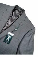 $495 Ralph Lauren Men's 44R Gray Sharkskin Coat Wool Sport Blazer Jacket Classic