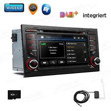 "7"" GPS Navigation Autoradio Für Audi A4 S4 RS4 8E B6 B7 Seat Exeo DAB+ DVD USB"