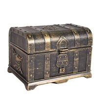 1X(Pirate Treasure Chest Decorative Treasure Chest Keepsake Jewelry Box Pla3B4)