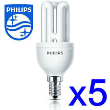 5 x Philips Energy Saving Light Lamp Bulb Small Screw Cap SES E14 8w/40w #2422