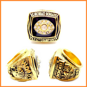 1988 Cincinnati Bengals AFC Championship Ring WOODS Player - All Sizes