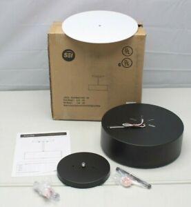 "SEI LT8275 Black 12"" Metal 2-Light Semi-Flush Mount Ceiling Lamp ~NEW Open Box"