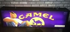 Vintage Joe Camel Lighted Neon Bar Sign Double-Sided Motorcycle For Man Cave