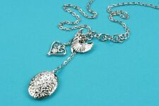 """Necklace with Locket, Silver Plated 18"""" with Lobster clasp fastening/extender"""