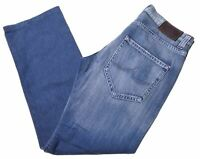 ICEBERG Mens Jeans W33 L32 Blue Cotton Straight  CE02