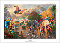 Thomas Kinkade Studios Disney Dumbo 24 x 36 S/N Limited Edition Paper
