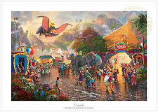 Thomas Kinkade Dumbo 12 x 18 S/N Limited Edition Paper - Disney LE Paper