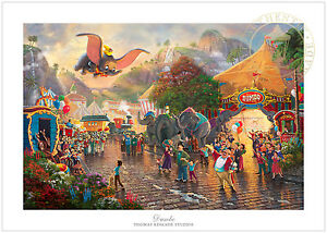 Thomas Kinkade Studios Dumbo 12 x 18 S/N Limited Edition Paper