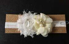 Baby Girl Combo Shabby Flower Headband with Rhinestone Accent *6 months-3 years