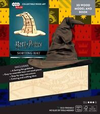 Harry Potter Sorting Hat 3D Laser Cut Wood Model and Deluxe Book NEW SEALED
