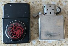 More details for original zippo black brass lighter -customised 4 game of thrones -used