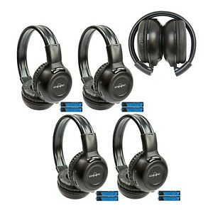 4 Fold In Wireless Headphones For Chevy Vehicles IR Rear TV DVD New Headsets 609