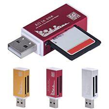USB2.0 All in One Aluminium Multi Card Reader SDHC SDXC Micro SD Memory Stick
