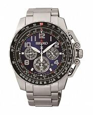 Seiko Mens Solar Powered Stainless Steel Watch SSC275P9  RRP £299