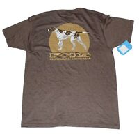 Columbia PHG Hunting Gear Short Sleeve Graphic T-Shirt Mens Large Brown Dog