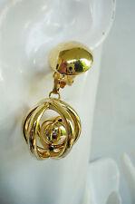 klimper Ohr Clips Hänger Kugel Glocke gold Metall ModeSchmuck Ohrclips NEU + TOP