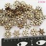 100pcs Rustic Wooden Christmas Snowflake Confetti Embellishments Christmas Craft