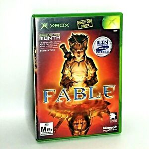 Vintage Microsoft XBOX Original Fable Game Complete Manual Professionally Clean