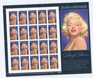 D132446 Legends of Hollywood Marilyn Monroe MNH Sheetlet USA Face $ 6.40