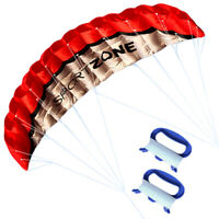 NEW 1.8m RED Dual Line Parafoil Parachute Stunt Sport Beach Outdoor Toys kite