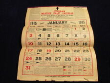 Vintage 1919 Indiana Weather Chart Calendar Sj