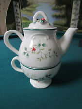 PFALTZGRAFF TEA FOR ONE, CUP AND TEAPOT NIB  *