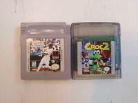 All-Star Baseball '99 (Nintendo Game Boy, 1998) + Croc 2 ( GBA 2000 )