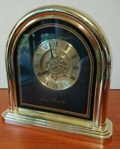 Gold Coloured Quartz Clock