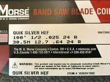 100' x 1/2 x 24R Quick Silver Hard Edge Flex Bandsaw Coil - New