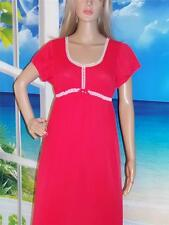 Vintage Formfit Hippie Gown Lingerie Empire Waist Cap Sleeves Red Nylon Small