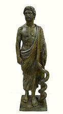 Asclepius Great bronze statue Ancient Greek God of medicine artifact