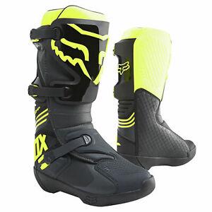 Fox Racing Comp Mens MX Offroad Boots Black Yellow FREE SHIP!